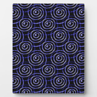 Blue Spirals Plaque