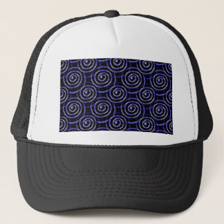 Blue Spirals Trucker Hat
