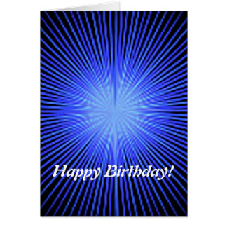 Blue Spirit Circles Greeting Card