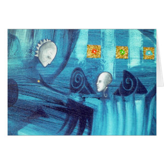 blue spirit dance greeting card