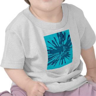 Blue Splash Abstract Design Tshirt