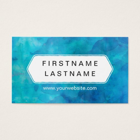 Blue Splash - Modern Water Colour Business Card
