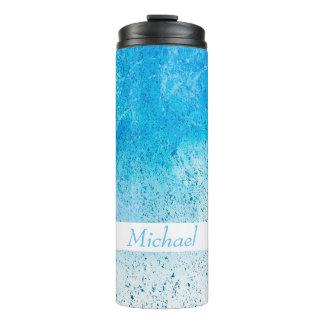 Blue Splash Thermal Tumbler