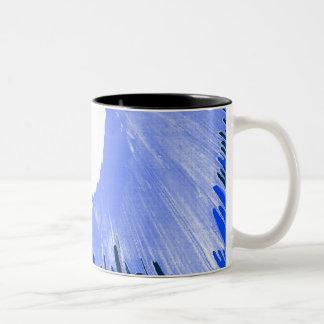 Blue Splash. Two-Tone Coffee Mug
