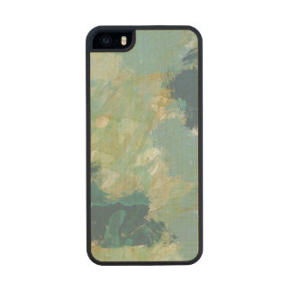 Blue Splash Watercolor Abstract Carved® Maple iPhone 5 Case