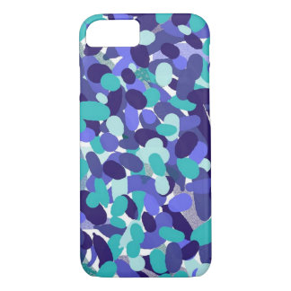 Blue Splashy Dots Cell Phone Case