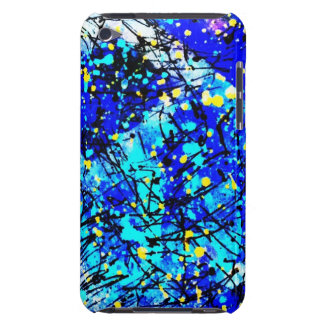 Blue Splatter Paint Barely There iPod Cases