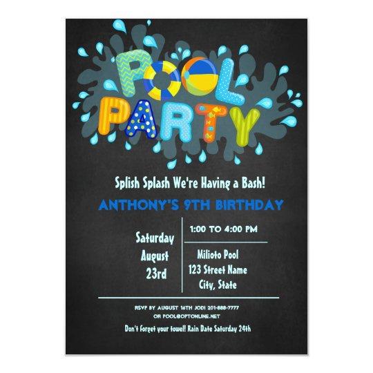 Blue Splish Splash Come To Our Bash Pool