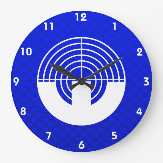 Blue Sport Shooting Large Clock