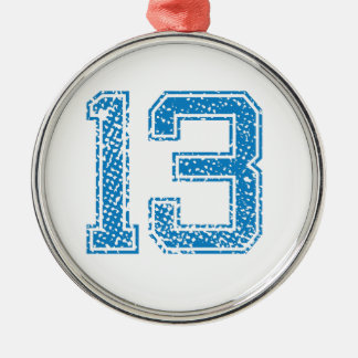 Blue Sports Jerzee Number 13 Christmas Ornament