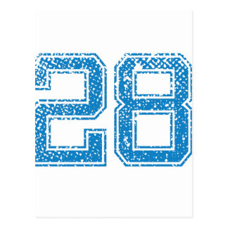 Blue Sports Jerzee Number 28 Post Cards