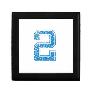 Blue Sports Jerzee Number 2 Jewelry Boxes