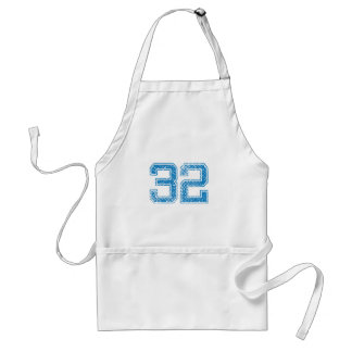 Blue Sports Jerzee Number 32 Adult Apron