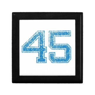 Blue Sports Jerzee Number 45 Keepsake Box