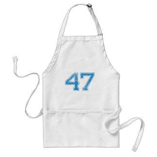 Blue Sports Jerzee Number 47 Standard Apron