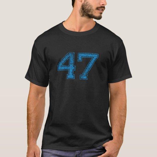 Blue Sports Jerzee Number 47 T-Shirt