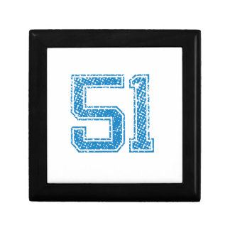 Blue Sports Jerzee Number 51 Gift Box