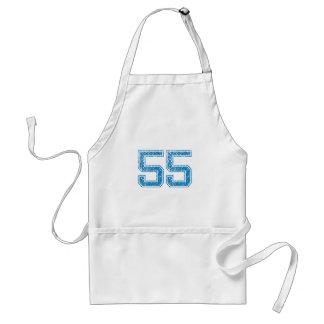 Blue Sports Jerzee Number 55 Standard Apron