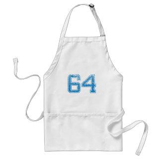 Blue Sports Jerzee Number 64 Standard Apron