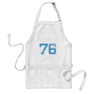 Blue Sports Jerzee Number 76 Standard Apron