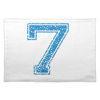 Blue Sports Jerzee Number 7 Placemat