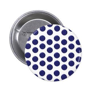 Blue Spot Standard, 2¼ Inch Round Button
