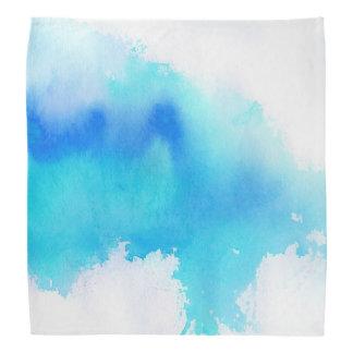 Blue spot, watercolor abstract hand painted bandana