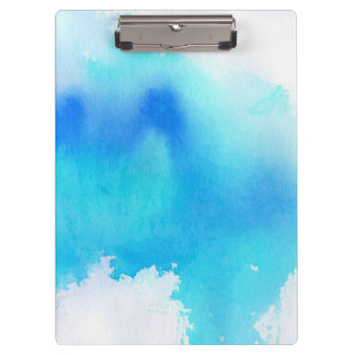 Blue spot, watercolor abstract hand painted clipboard