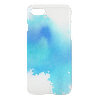 Blue spot, watercolor abstract hand painted iPhone 8/7 case