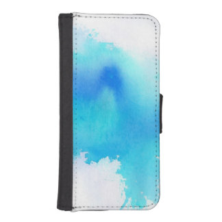 Blue spot, watercolor abstract hand painted iPhone SE/5/5s wallet case