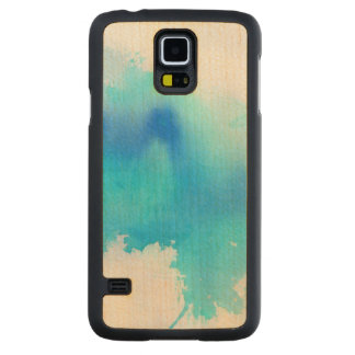 Blue spot, watercolor abstract hand painted maple galaxy s5 slim case