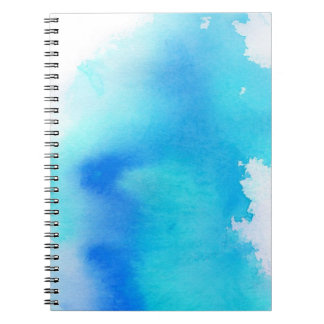 Blue spot, watercolor abstract hand painted notebook