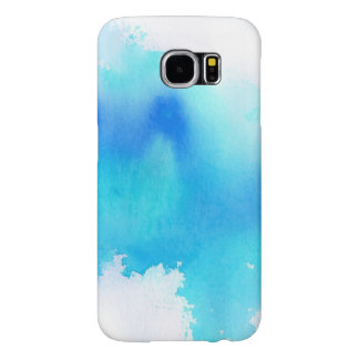Blue spot, watercolor abstract hand painted samsung galaxy s6 cases