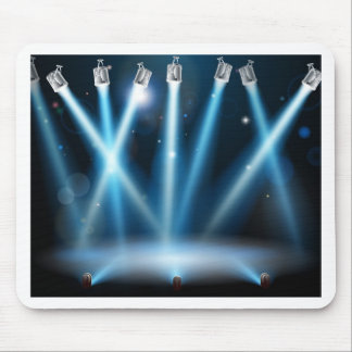 Blue spotlights background mousepad