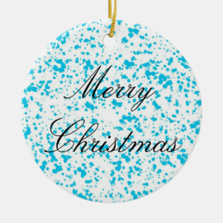 Blue Spotted Ornament