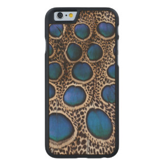 Blue spotted peacock pheasant carved® maple iPhone 6 slim case