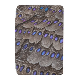 Blue Spotted Pheasant Feather iPad Mini Cover