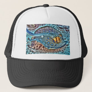 Blue Spotted Reef Ray Trucker Hat