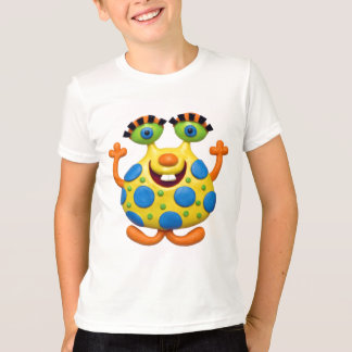 Blue Spotted Yellow Monster T-Shirt