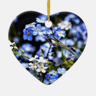 Blue Spring Ceramic Heart Decoration