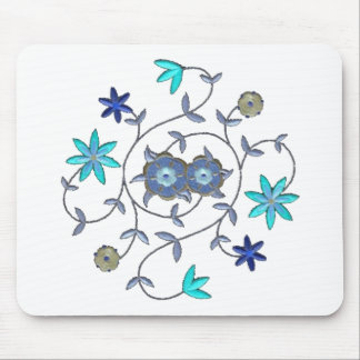 Blue Spring Flower Garden Mouse Pads