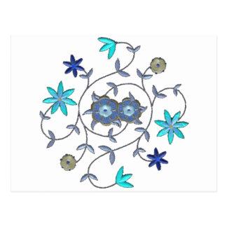 Blue Spring Flower Garden Postcard