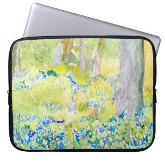 Blue Spring Flowers Laptop Case