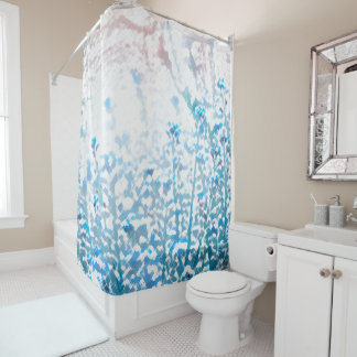 Blue Spring Shower Curtain