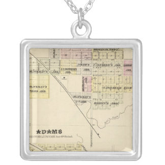 Blue Springs, Nebraska Silver Plated Necklace