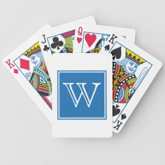 Blue Square Monogram Cards