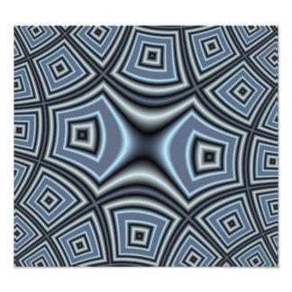 Blue Square Pattern Photo Art
