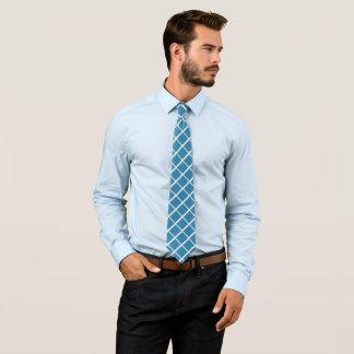 Blue squared tie