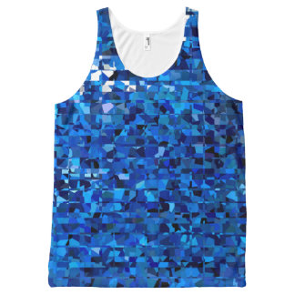 Blue Squares All-Over Print Tank Top
