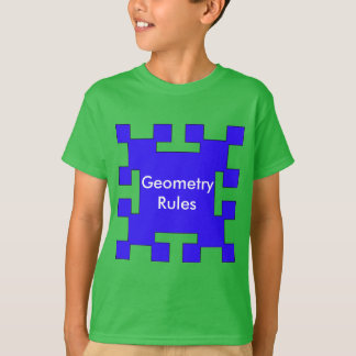 Blue  squares and squares t-shirts